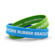 Silicone Rubber Bracelets And Wristbands Packaging MockUp - GraphicRiver Item for Sale