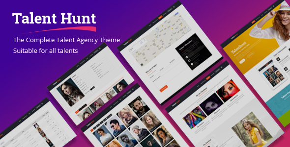Talent Hunt -  Model Management WordPress CMS Theme