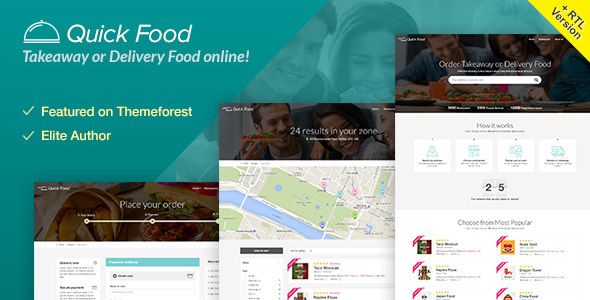 QuickFood - Delivery or Takeaway Food Template