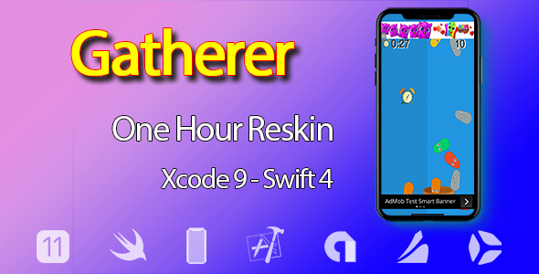 Gatherer – One Hour Reskin - iOS 11 and Swift 4 ready
