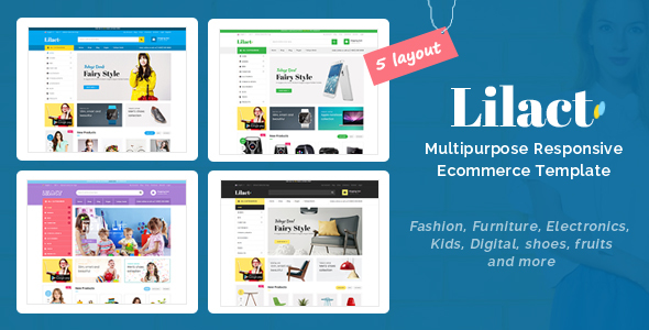 Lilac - Responsive Ecommerce Template