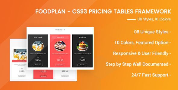 Foodplan - Responsive Pricing Tables Framework