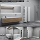 Bathroom furniture set Panta Rel 7 - 3DOcean Item for Sale