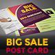 Big Sale Post Card - GraphicRiver Item for Sale