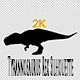Dinosaur Tyrannosaurus Rex Silhouette, Walk Loop - VideoHive Item for Sale