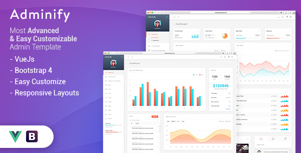 Vue HTML Admin Website Templates from ThemeForest