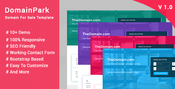 Domain Sale Templates From Themeforest