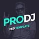 ProDJ - Creative DJ / Producer Site PSD Template - ThemeForest Item for Sale