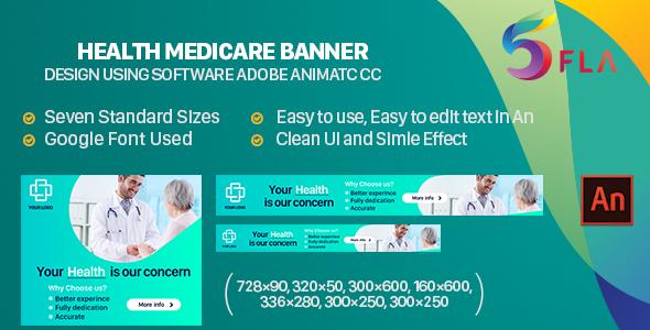 Health Medicare Banner Ad HTML5 (Animate CC)