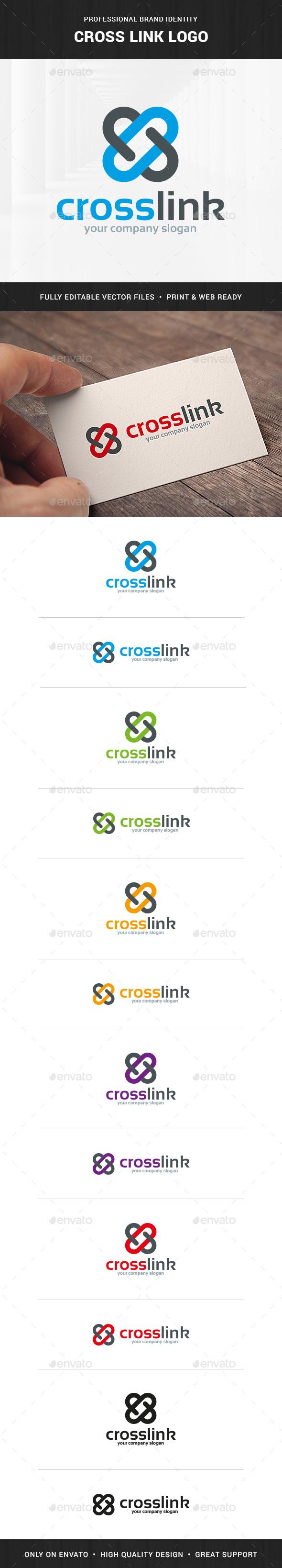 Cross Link Logo Template