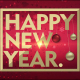 Merry Christmas and Happy New Year Red Background - VideoHive Item for Sale