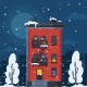 Winter Urban Landscape - GraphicRiver Item for Sale