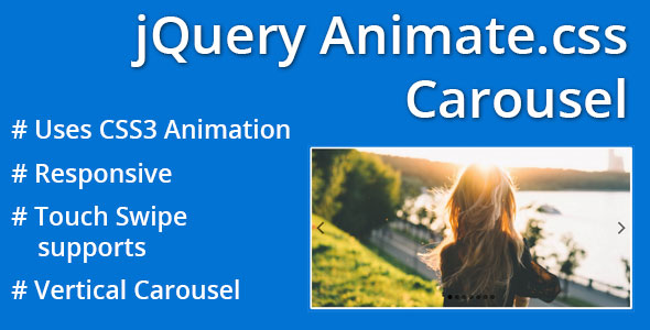 jQuery Animate.css Carousel