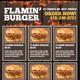 Flamin Burger Poster - GraphicRiver Item for Sale