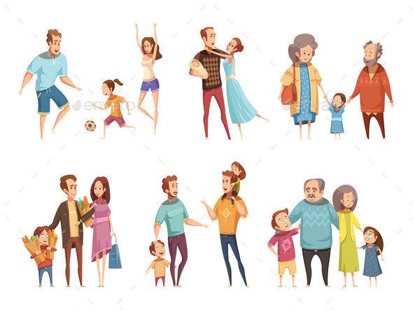 Family Cartoon Set