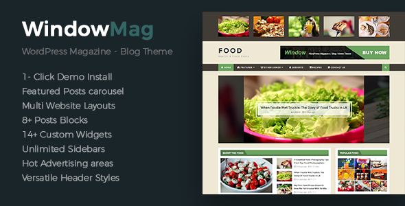 WindowMag – Responsive News / Magazine / Blog Theme Free Download