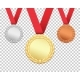 Set of Three Medals - GraphicRiver Item for Sale