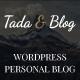 Tada & Blog - Personal WordPress Template - ThemeForest Item for Sale