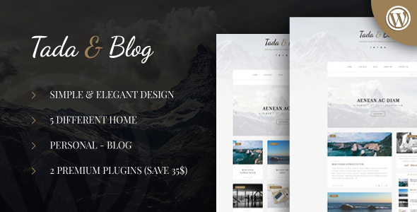 Tada & Blog - Personal WordPress Template