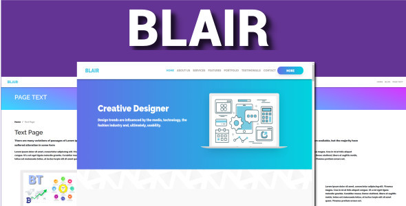 Blair - One Page Bootstrap 4 VueJS