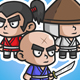 Samurai Chibi Game Characters - GraphicRiver Item for Sale