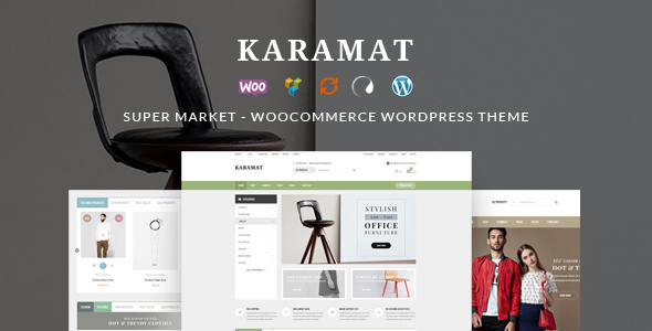 Supermarket WordPress Website Templates from ThemeForest