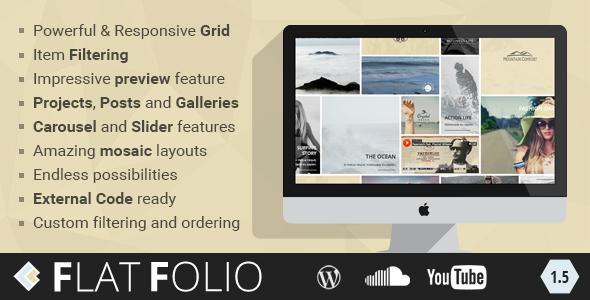 FlatFolio - Flat & Cool WP Portfolio Download