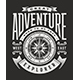 Vintage Great Adventure Typography on Black Background - GraphicRiver Item for Sale