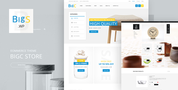 Big Shop - Furniture RTL Responsive WooCommerce WordPress Theme