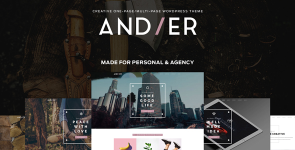 Andier - Responsive One & Multi Page Portfolio Theme