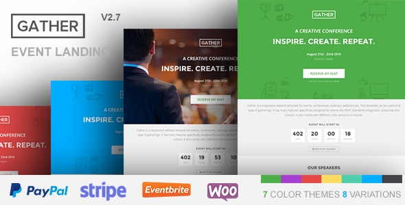 Gather - Event & Conference WP Landing Page Theme