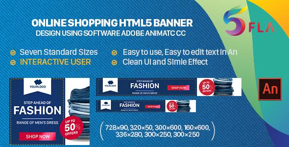 Online Shopping HTML5 Banner – INTERACTIVE USER