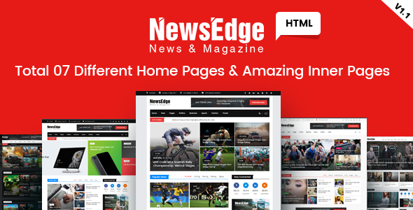 NwsEdge - News & Magazine HTML Template