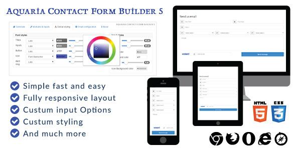 Aquaria contact form builder 5 Download
