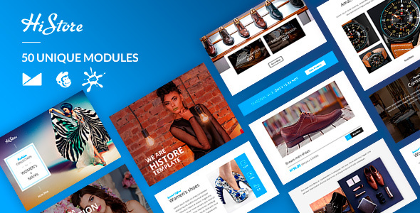 HiStore Email-Template + Online Builder