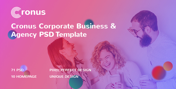 CRONUS – Corporate Business and Agency PSD Template