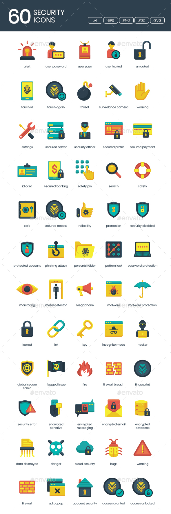 IT Security Icons