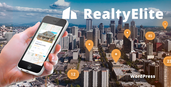 RealtyElite - Real Estate & Property Sales WordPress Theme