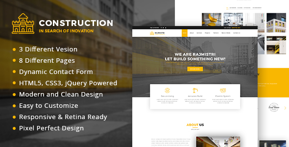 Construction - HTML5 Template