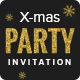 X-mas - Christmas Party Invitation Email Template PSD - GraphicRiver Item for Sale
