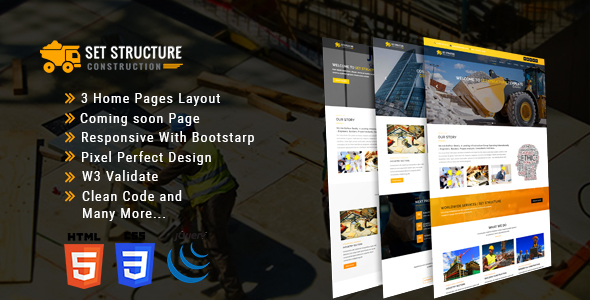 Set Structure - Construction Corporate Business Drupal 8 Theme