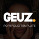 Geuz - Responsive One Page Portfolio HTML Template - ThemeForest Item for Sale