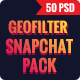 Bundle Promotion Geofilters Snapchat - 50 PSD - GraphicRiver Item for Sale