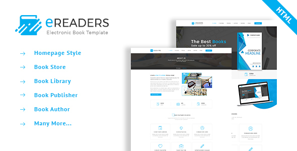 E Readers - Books Library eCommerce Store