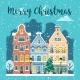 Winter Christmas City Street Vector Landscape - GraphicRiver Item for Sale