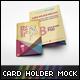 Card Holder Mockup V2 - GraphicRiver Item for Sale