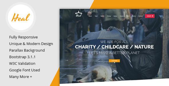 Heal - One HTML Charity Szablon HTML