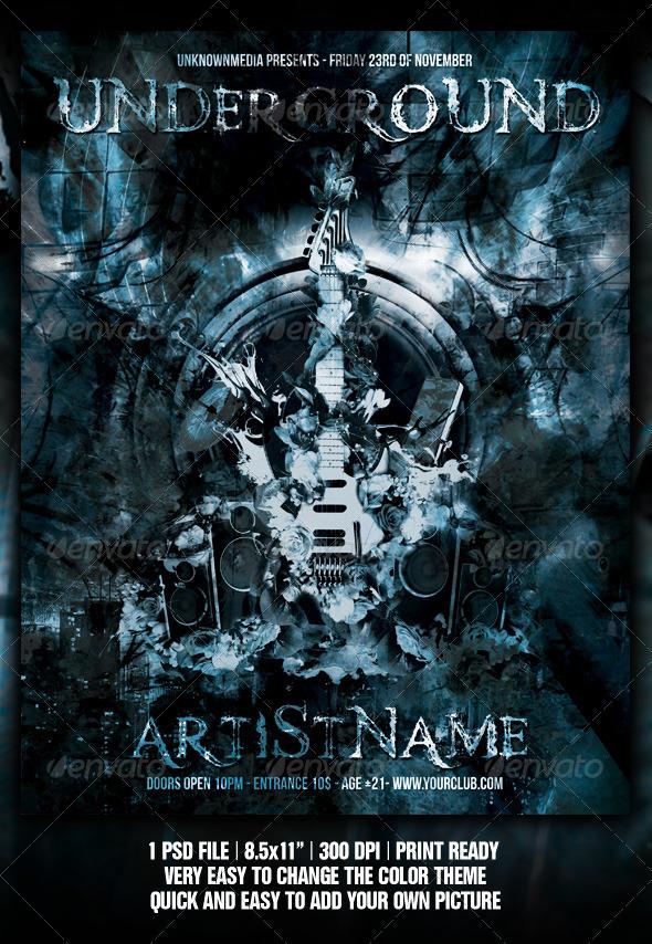 Hip Hop Concert Flyer Graphics, Designs & Templates