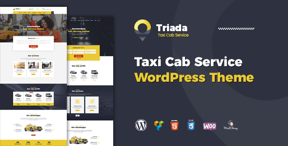 Triada - Taxi Cab Service Company WordPress Theme