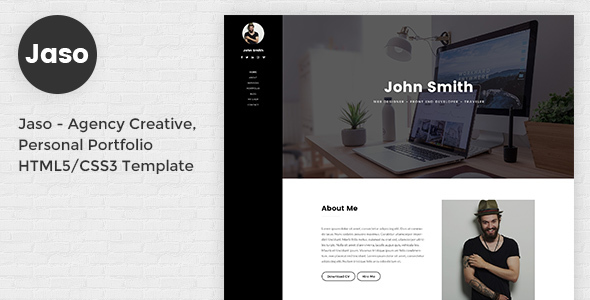 Download Jaso – Creative Personal CV/Resume Portfolio HTML5 Template Nulled